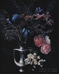 Marie Cosindas (American, b. 1925) Still Life with Anemone and Roses Unsigned, identified on a label on the reverse. Polaroid (dye t...