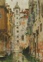 Denman W. Ross (American, 1853-1935) Venetain Canal. Unsigned. Oil on canvasboard, 14 x 10 in., framed.