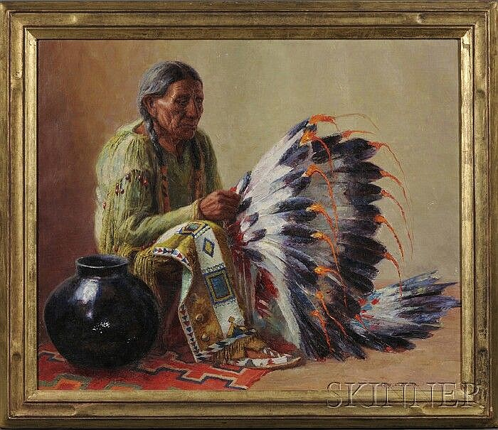 Henry C. Balink (1882-1963), Chief Yellow Bird (Tad-Sa-On-Ja). Signed