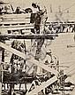 Philip Kappel (American, 1901-1981) Boat Builders, Essex. Signed