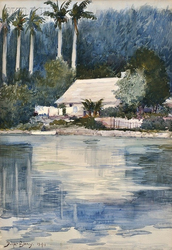 Dwight Blaney (American, 1865-1944) House on the Homosassa River, Florida Signed and dated