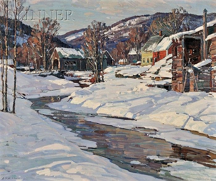 "Aldro Thompson Hibbard (American, 1886-1972) Covered Bridge, Vermont, c. 1929 Signed ""A.T. Hibbard-"" l.l., identified on labels incl..."
