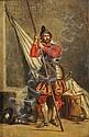 Hippolyte Bellange (French, 1800-1866) Flag Bearer Faintly signed