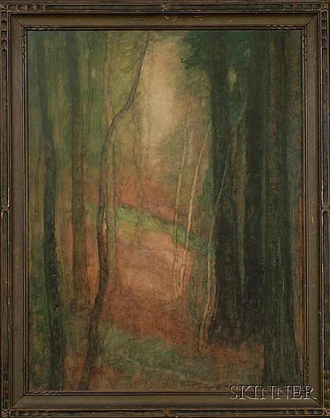 Harry Spiers (American, 1869-1947) Lot of Four Landscapes, including October, September Pastures, and Hemlock and Birches Each signed