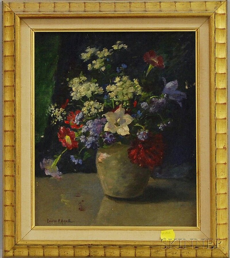 Louise M. Angell (American, b. 1858) Still Life of Flowers. Signed