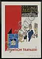 Joost Swarte (Dutch, b. 1947) Attention Travaux! Architectures de Bande Dessinee. Signed