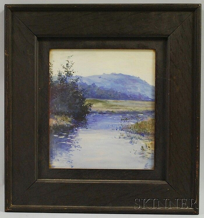 Eben Farrington Comins (American, 1875-1949) Morning Stream. Signed