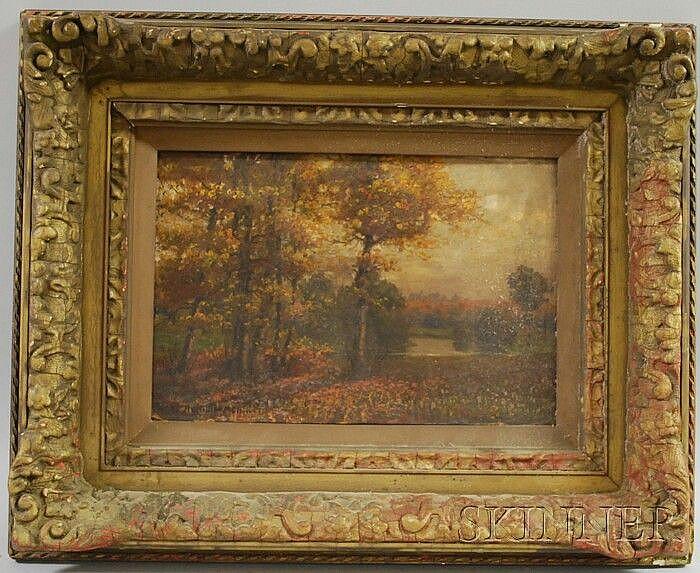 Hans Heinen (German, b. 1860) Autumn Landscape. Signed and inscribed