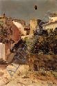 Juan Roig y Soler (Spanish, 1825-1909) The Shady Street Signed and inscribed