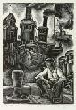 """Isaac J. Sanger (American, b. 1899) Tug Boats, edition of 50. Signed """"Sanger"""" in pencil l.r.,"""