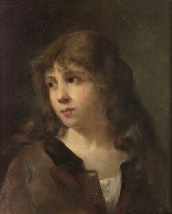 Gaston Gerard (French, b. 1859) Portrait of a Child Signed