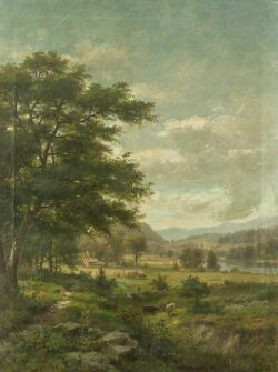 George Frank Higgins (American, 1850-1884) Valley Farm Signed and dated