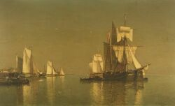 Paul Jean Clays (Belgian, 1819-1900) Harbor View Signed and dated