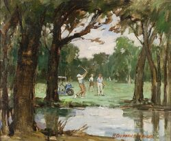 Redmond Stephens Wright (American, b. 1903) On the Golf Course Signed or inscribed