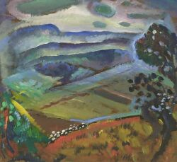 Omer Thomas Lassonde (American, 1903-1980) The Valley and the Hill Signed