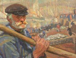 Joseph Margulies (American, 1896-1984) Breton Fisherman of Concorneau Signed