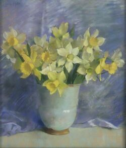 Laura Coombs Hills (American, 1859-1952) Daffodils Signed
