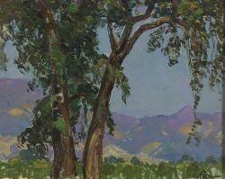 Peter Alexander Ilyin (Russian/American, 1887-1958) Mountain Landscape Signed