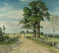 Harold Brett (American, 1880-1955) The Barnstable Road Signed and titled