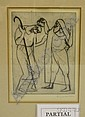 Two Framed Etchings of Figures, Attributed to Henryk Glicenstein (Polish, 1870-1943), inscribed