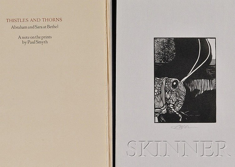 (Moser, Barry (b. 1940), Illustrator), Thistles and Thorns: Abraham and Sara at Bethel, a Note on the Prints by Paul Smyth, [Northam...