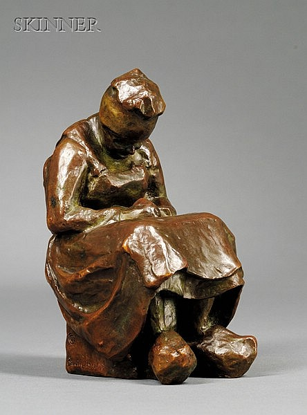 Blanca Will (American, 1881-1978), Portrait of a Peasant Woman, Signed, dated and inscribed
