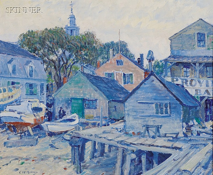 Clifford Warren Ashley (American, 1881-1947), Provincetown Bar and Bakery, Signed