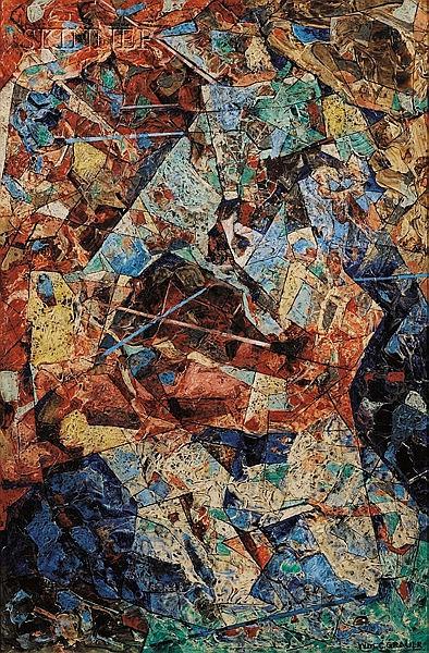William C. Grauer (American, 1896-1985), The Sword Battle, Signed