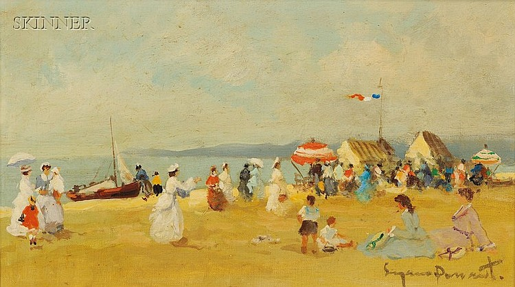 Suzanne Demarest (American, 1900-1985), Day at the Beach, Signed