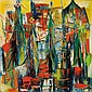 """Sylvia Miller (Ukrainian/American, 1910-1991), Lot of Two Works: Christmas! and Celestial City, Christmas! signed """"S. MILLER"""" l.l., Cit"""