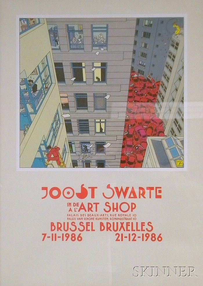 Joost Swarte (Dutch, b. 1947) Joost Swarte in de Art Shop Signed and dated