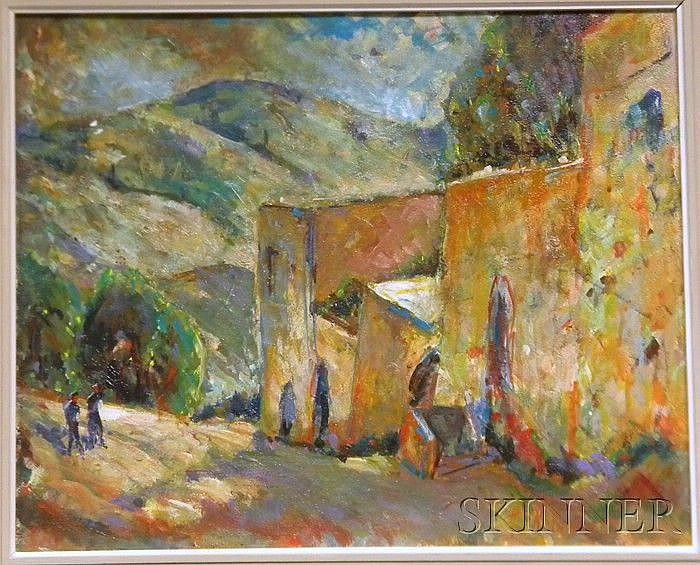 Harold Rotenberg (American, b. 1905) Down the Lane Signed