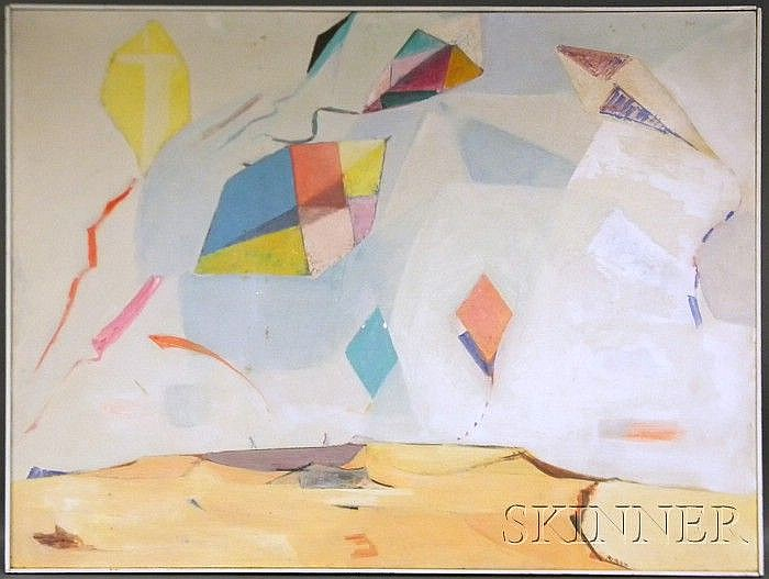 Louis Leon Ribak (American, 1902-1979) View from a White Kite, 1957 Signed
