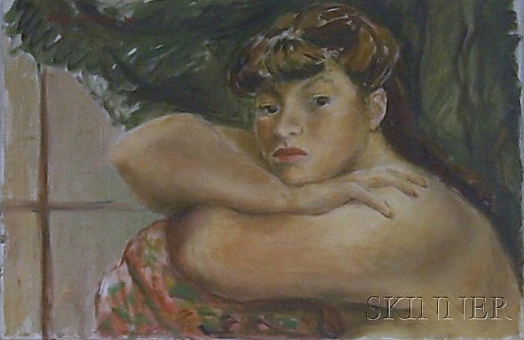 Four Framed and Unframed Oil on Canvas Works by Helen Ratkai (American, b. 1914), works including a framed work wi...