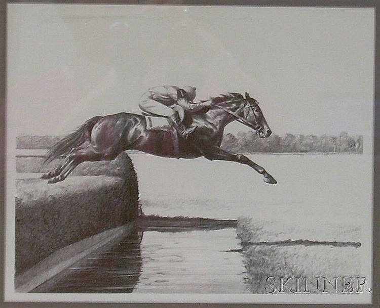 Two Framed Lithograph Equestrian Scenes by Clarence William Anderson (American, 1891-1971), one...