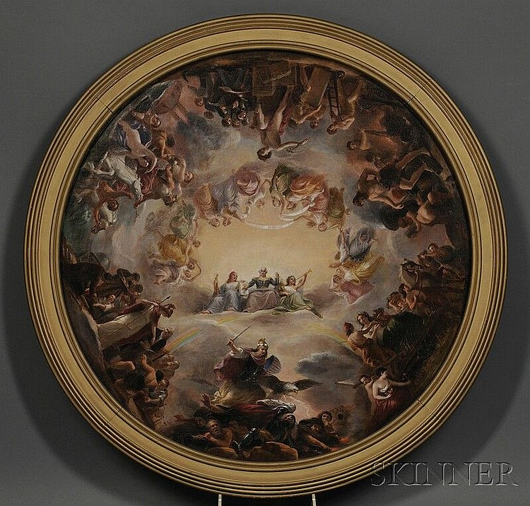 Constantino Brumidi (Italian/American, 1805-1880) Study for The Apotheosis of Washington in the Rotunda of the United States Capitol Bu