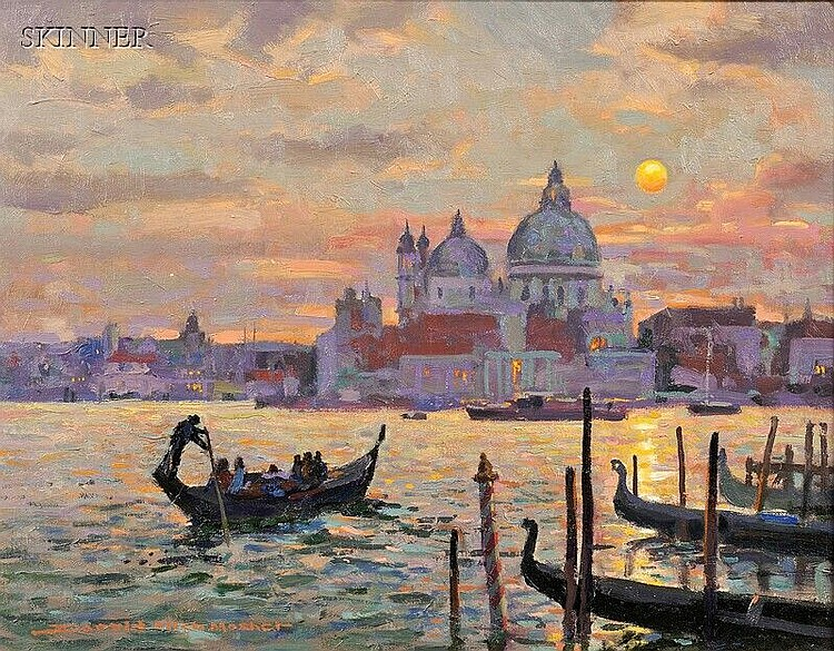 Donald Allen Mosher (American, b. 1945) Venice at Dusk Signed