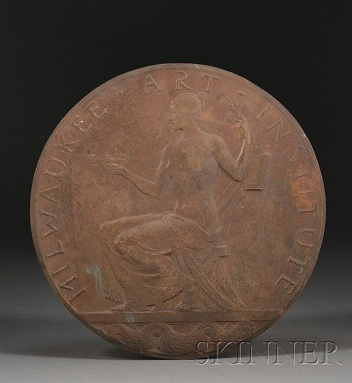 Albert Henry Atkins (American, 1899-1951), Medallion for the Milwaukee Art Institute, Signed
