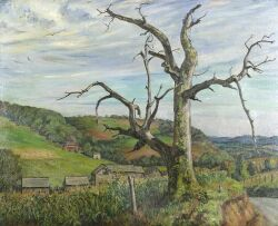 Harry Shokler (American, 1896-1978), Chestnut Tree, Londonderry, Vermont, Signed and dated