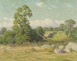 Edward Herbert Barnard (American, 1855-1909), Pasture, Signed