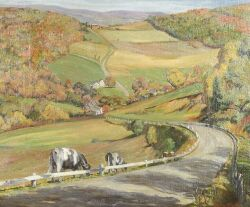 Harry Shokler (American, 1896-1978), Autumn Road, Signed