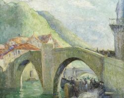 Hortense Ferne (American, 1885-1976), High Bridge, Spain, Signed