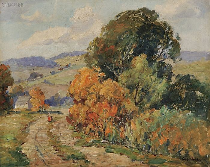 Jesse Carl Hobby (American, 1871-1938) Early Autumn Signed