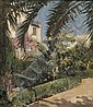 Kurt Leyde (American, 1881-1941) Spanish Garden Signed, dated and inscribed