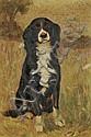 William Baxter Palmer Closson (American, 1848-1926) Portrait of a Spaniel Signed