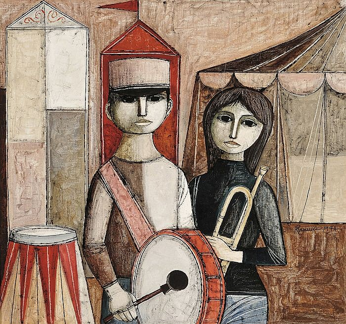 Lucio Ranucci (Italian, b. 1924) Musicians Signed and dated
