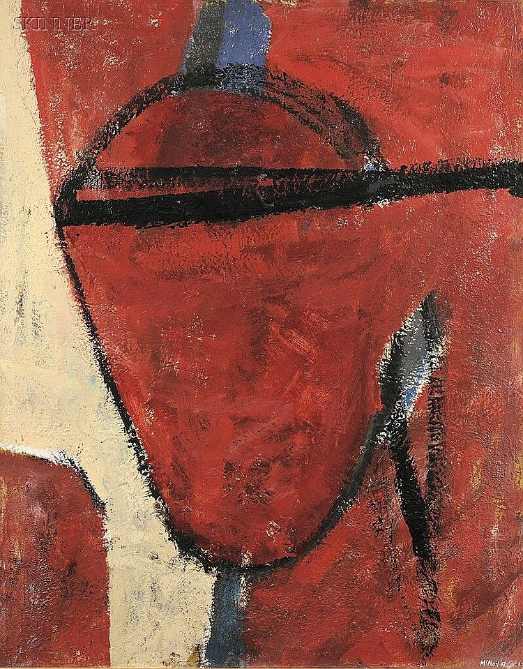 George Joseph McNeil (American, 1908-1995) Untitled, 1952 Signed and dated