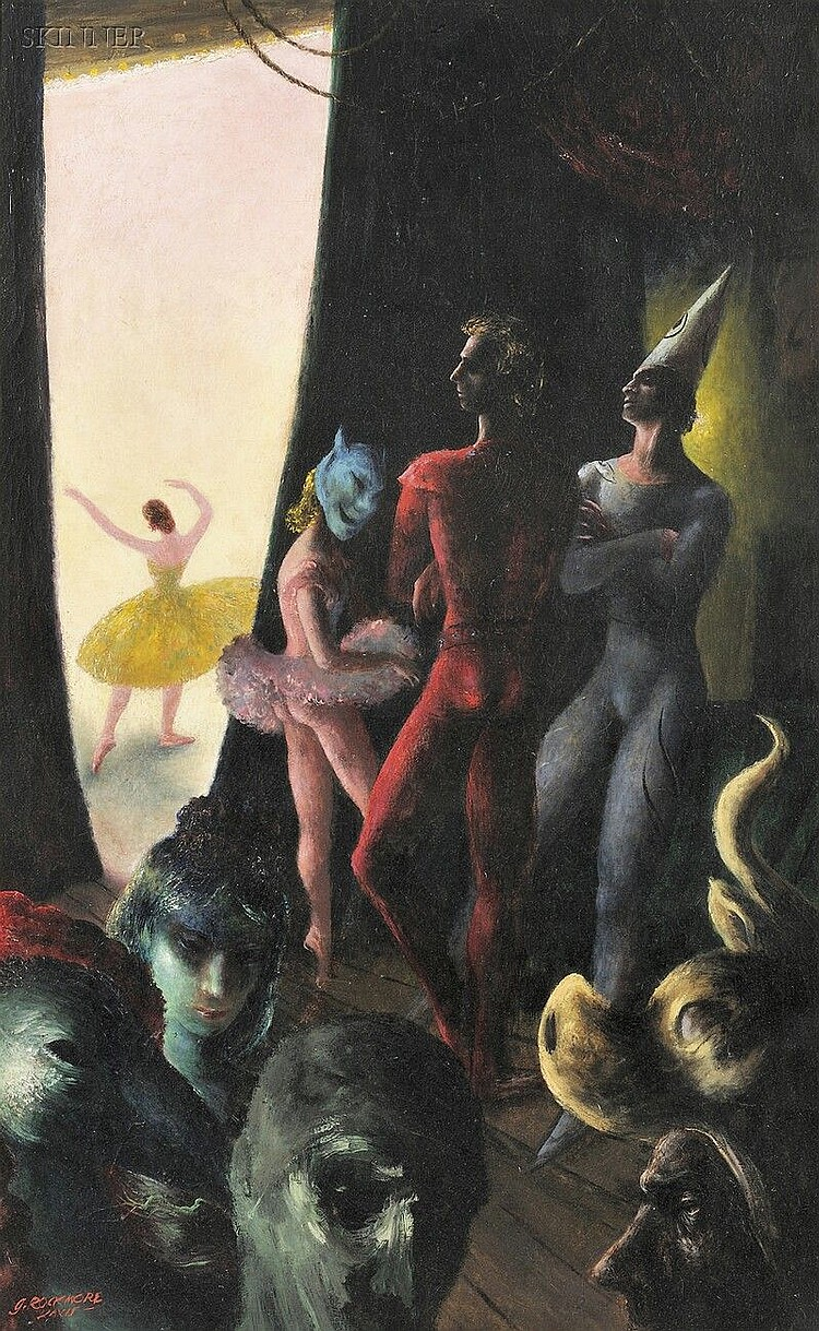 Gladys Rockmore Davis (American, 1901-1967) In the Wings, Ballet