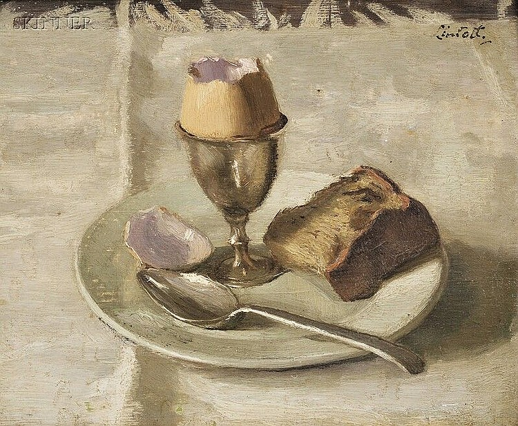 Edward Barnard Lintott (American, 1875-1951) The Egg Signed