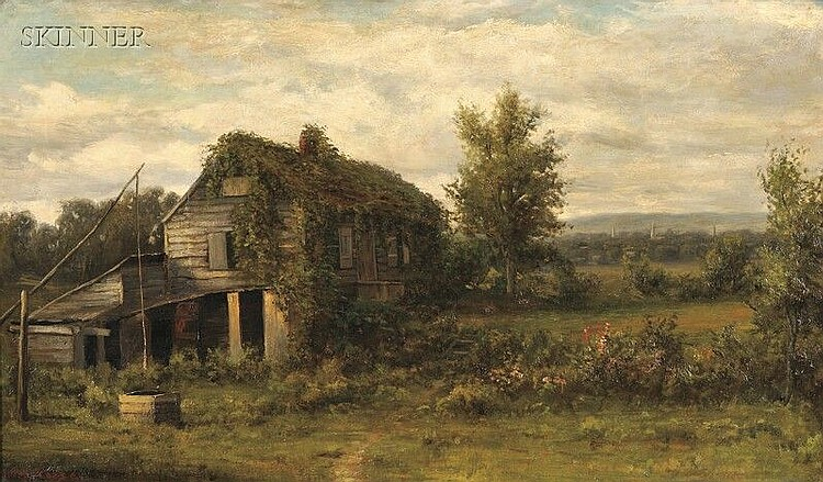 Jonathan Bradley Morse (American, 1834-1898) The Old Cottage Signed